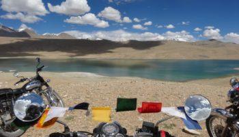 Lac Tso kiagar en Royal enfield - Voyage moto en Inde Himalaya