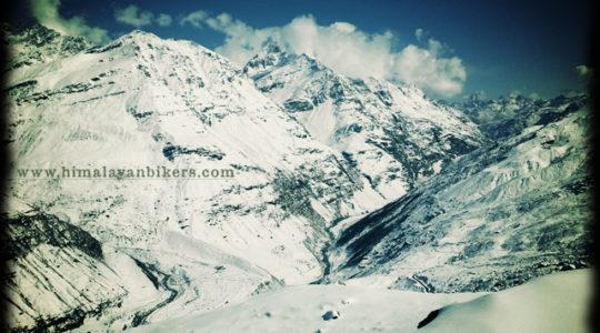 Vallée enneigée du Lahaul - Voyage moto du Kinnaur au Spiti, Himachal pradesh, Inde, Himalaya