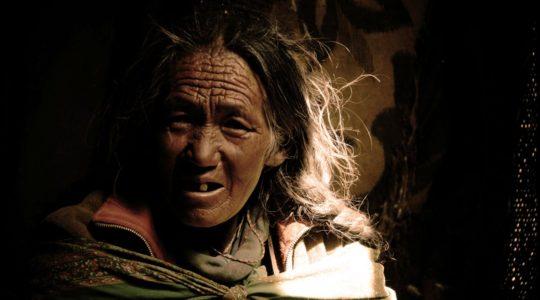 Femme nomade du Ladakh - Voyage à moto Transhimalayenne et Ladakh, Inde, Himalaya
