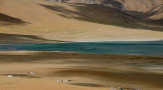 Lac Tso Kiagar - Voyage à moto Transhimalayenne et Ladakh, Inde, Himalaya en Royal Enfield