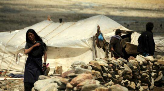 Nomade au Lac Tsomoriri - Voyage moto Transhimalayenne et Ladakh, Inde Himalaya en royal Enfield